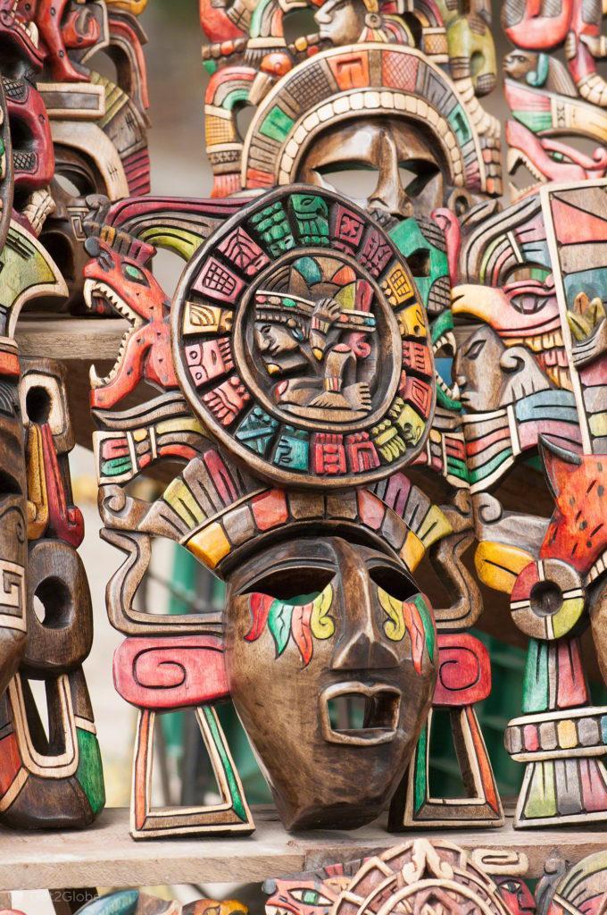 Arte Maia, Xcaret, México