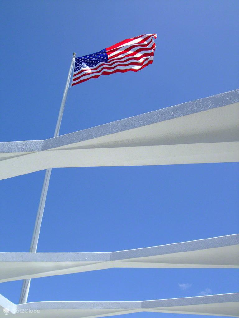 Bandeira americana-USS Arizona, Pearl Harbour, Havai