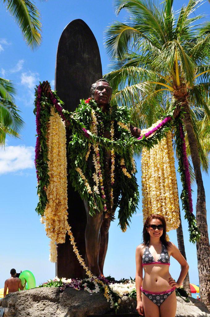 estatua Duke Kahanamoku, Waikiki, Oahu, Havai