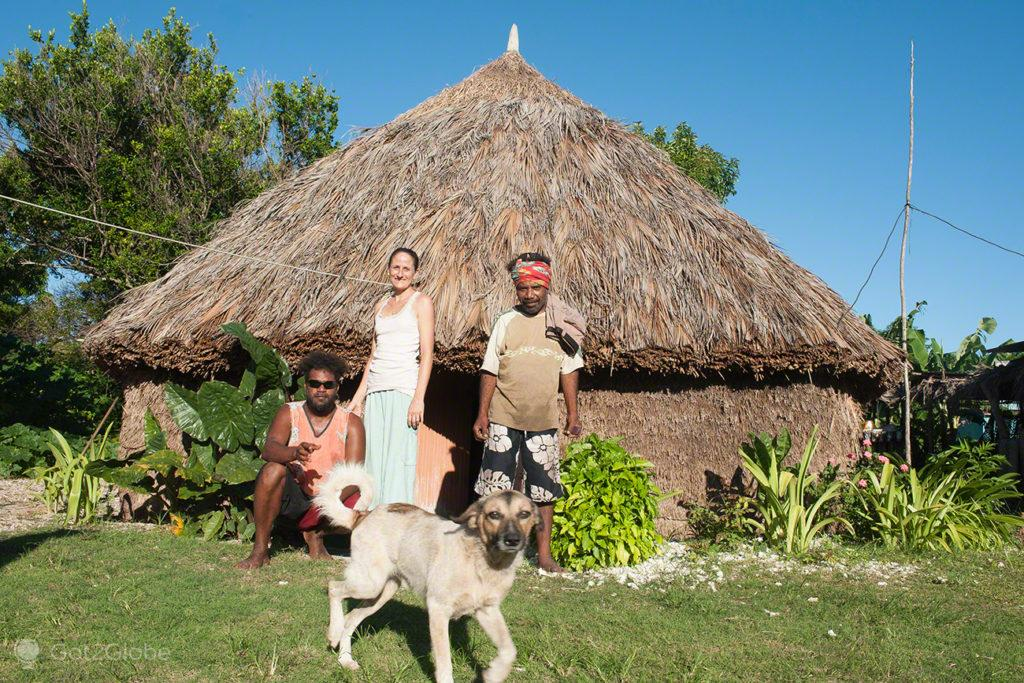 Celine, William e David, Ilha de Ouvéa-Ilhas Lealdade, Nova Caledónia