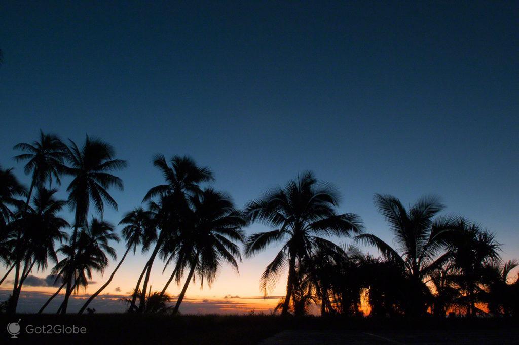 Coqueiros, ilha de Ouvéa-Ilhas Lealdade, Nova Caledónia