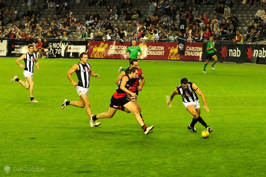 Correria, Melbourne Cricket Ground-Rules footbal, Melbourne, Australia