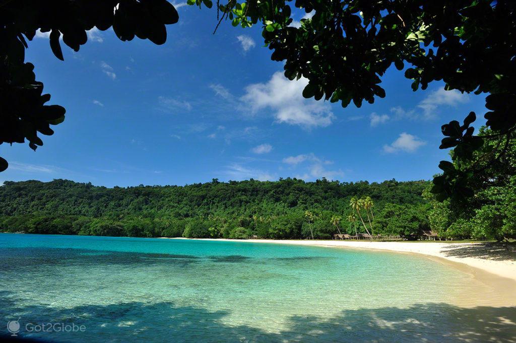 Enseada Champagne Beach, Espiritu Santo, Vanuatu