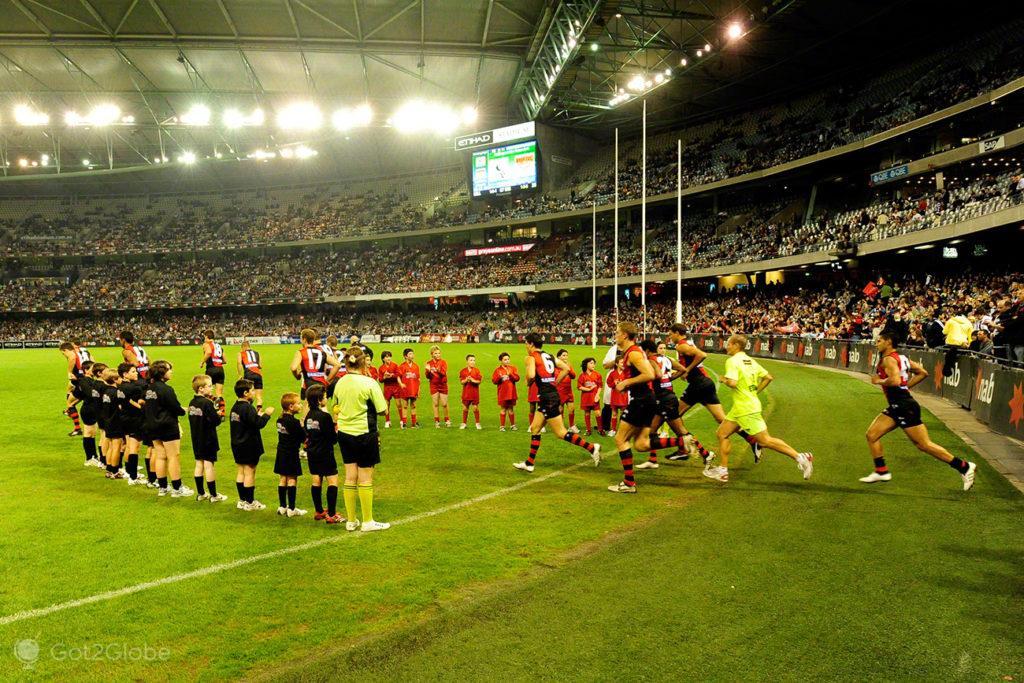 Entrada em campo, Melbourne Cricket Ground-Rules footbal, Melbourne, Australia