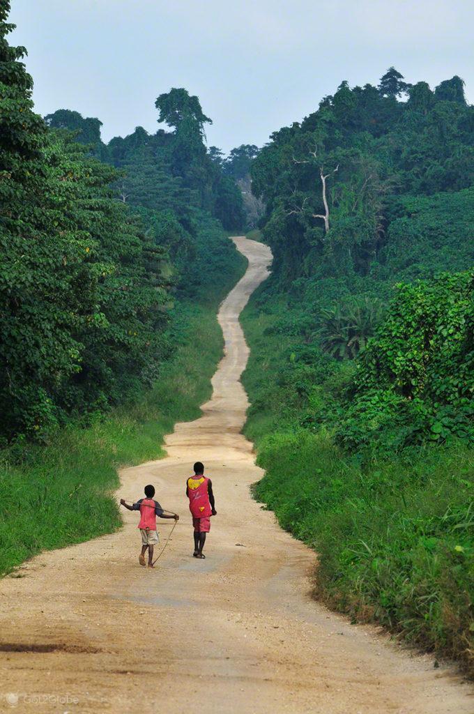Estrada para norte, Espiritu Santo, Vanuatu