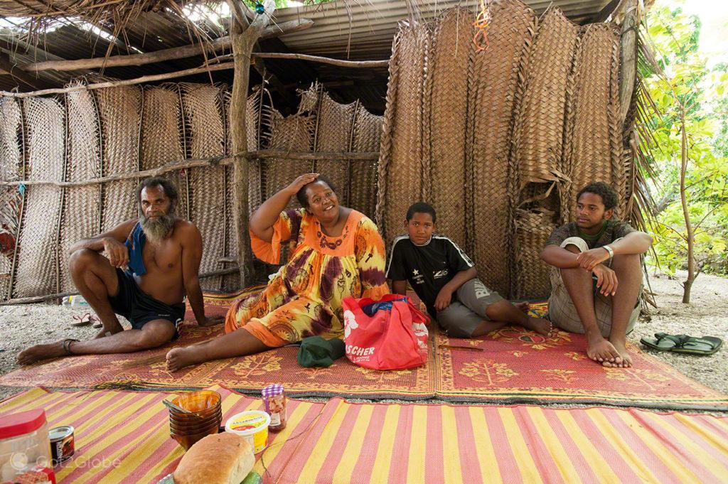Família nativa, ilha Ouvéa-Ilhas Lealdade, Nova Caledónia
