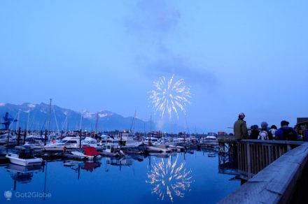 Fogo artifício de 4 de Julho-Seward, Alasca, Estados Unidos