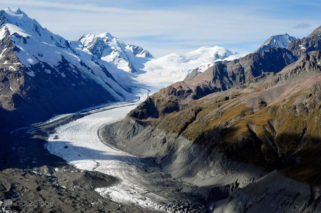 Glaciar Tasman, Alpes do sul, Nova Zelândia
