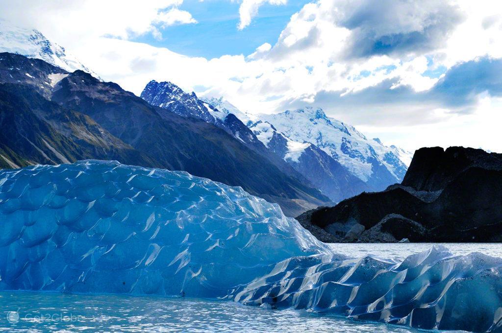 Icebergs, Lago Tasman, Nova Zelândia