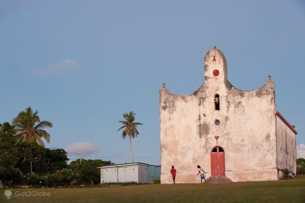 Igreja antiga de Ouvéa-Ilhas Lealdade-Nova Caledónia