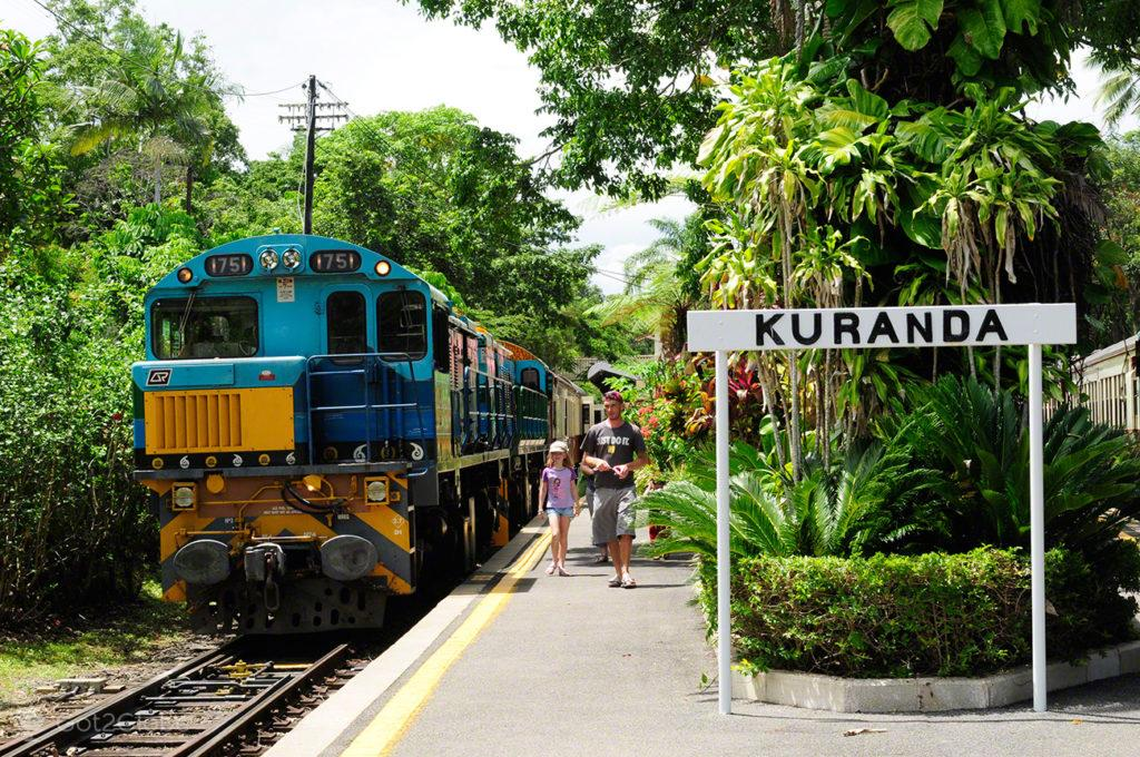 Locomotiva do Kuranda, Kuranda train, Cairns, Queensland, Australia