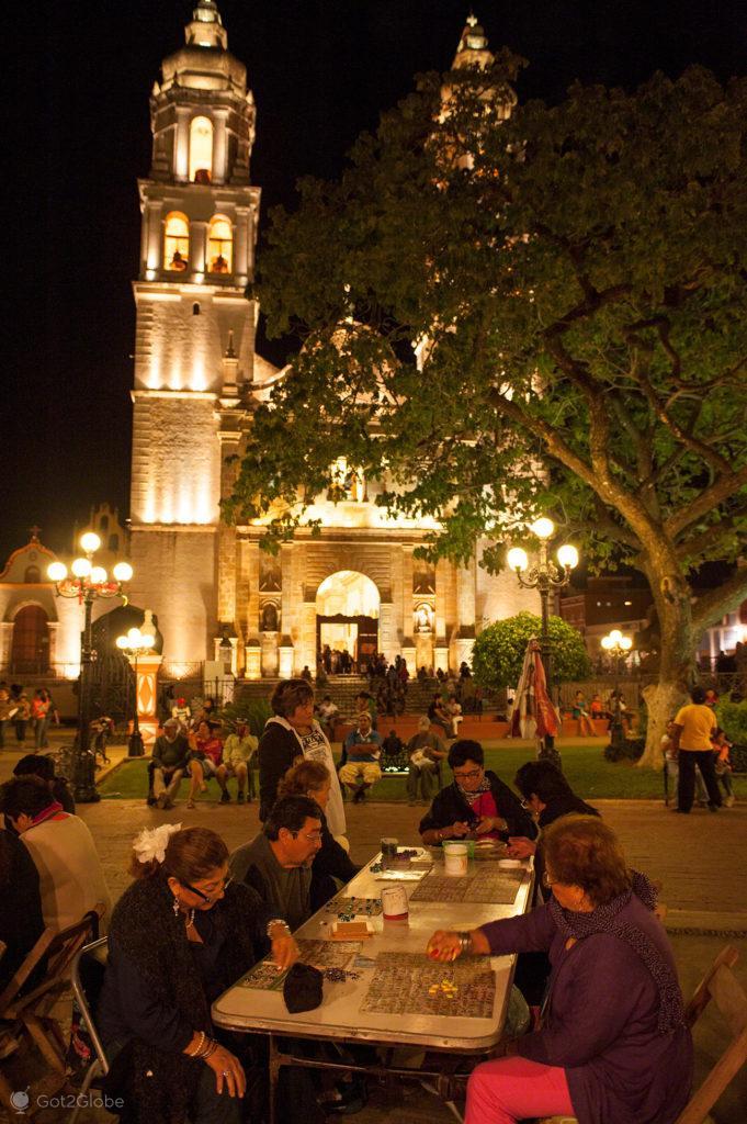 Loteria Campechana, Parque Central, Campeche, Mexico