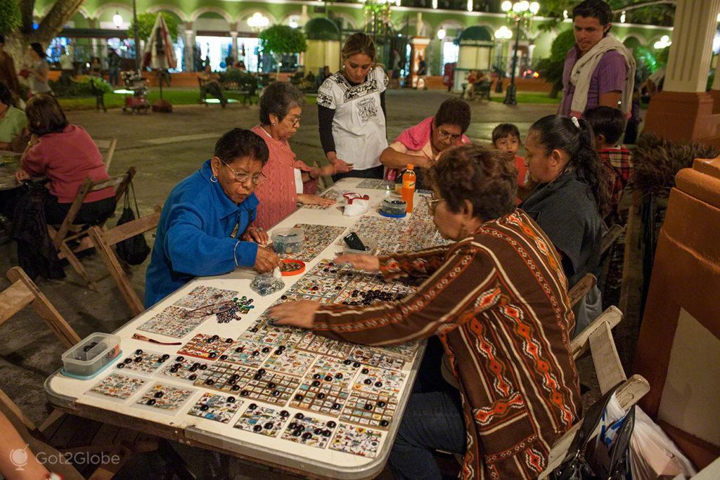 Loteria campechana, bingo de rua, Campeche, Mexico