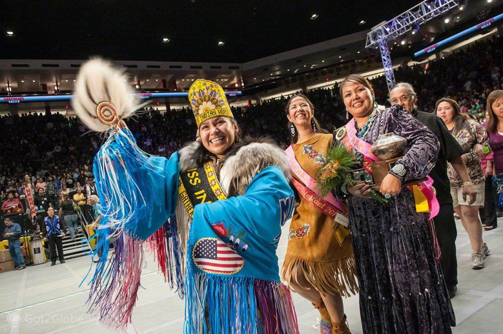 Vencedora Miss Indian World, Pow Wow, Albuquerque, Novo México, Estados Unidos