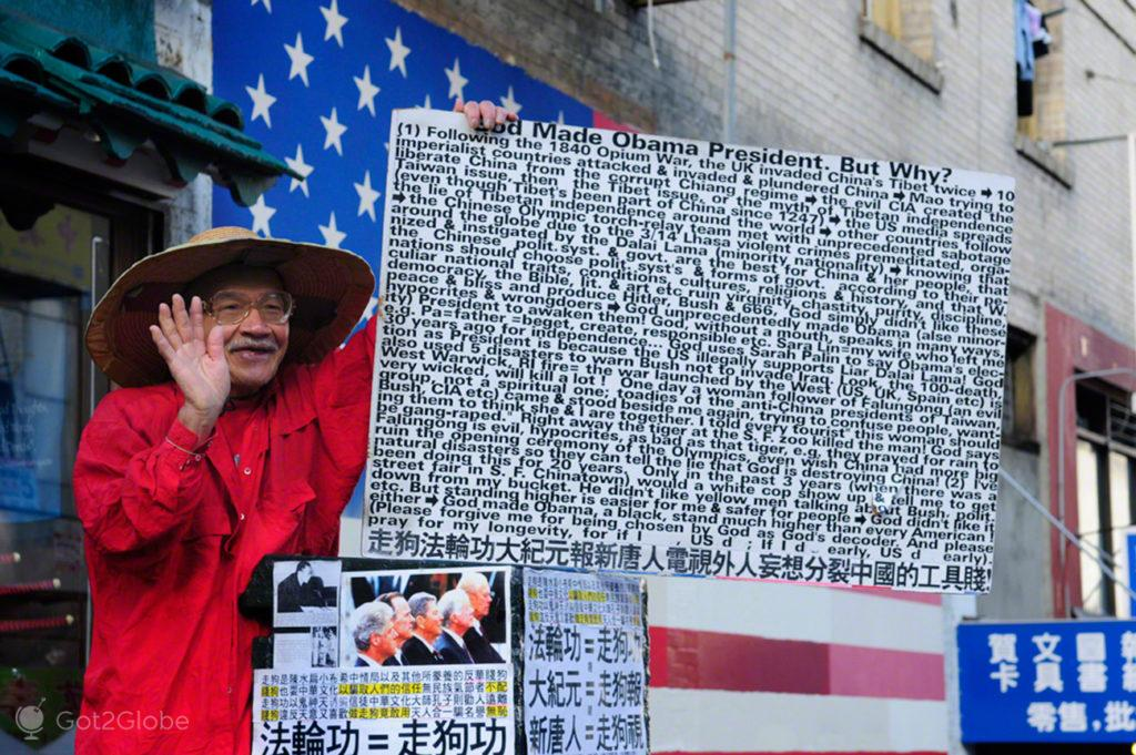 Mensagem messianica, Chinatown-Sao Francisco, Estados Unidos da America