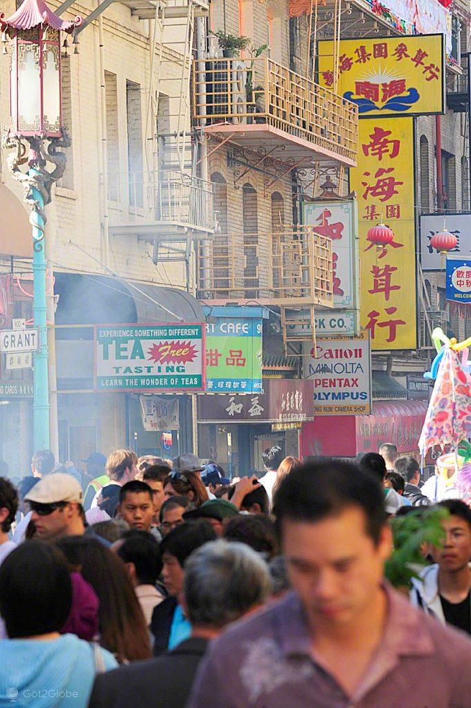 Multidão, Chinatown, Sao Francisco-Estados Unidos da America