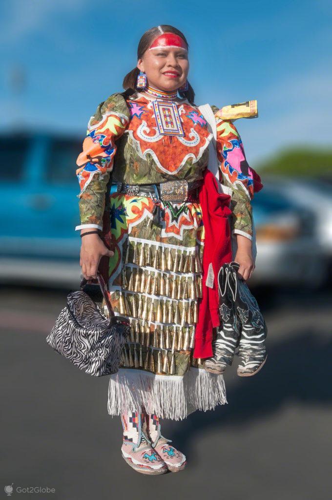 Nativa-americana, Pow Pow, Albuquerque-Novo México, Estados Unidos