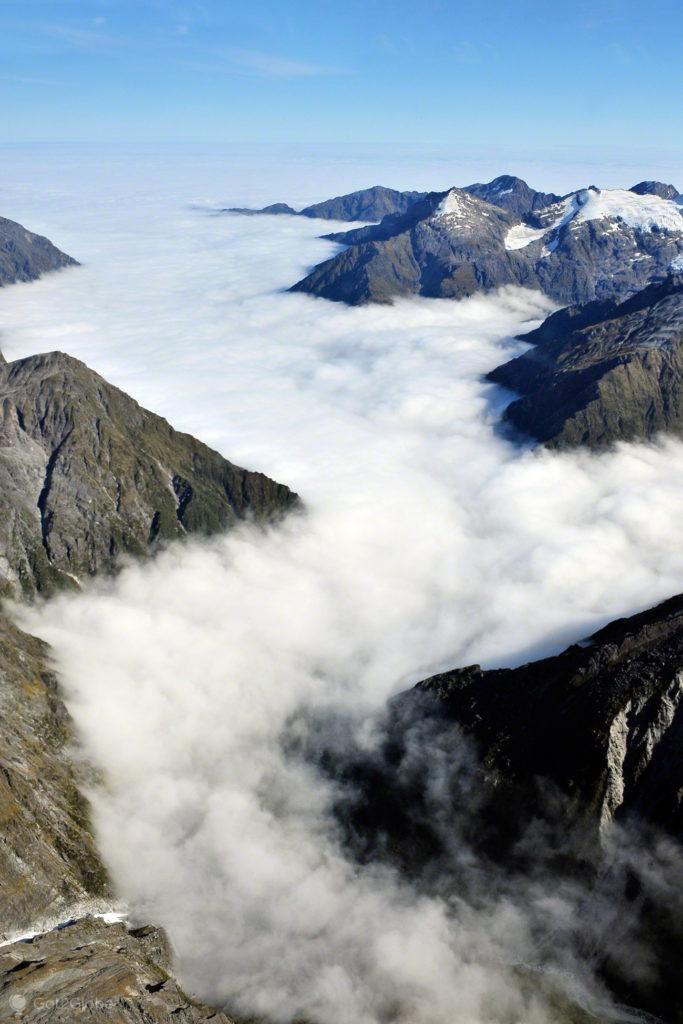 Névoa, Alpes do sul, Nova Zelândia