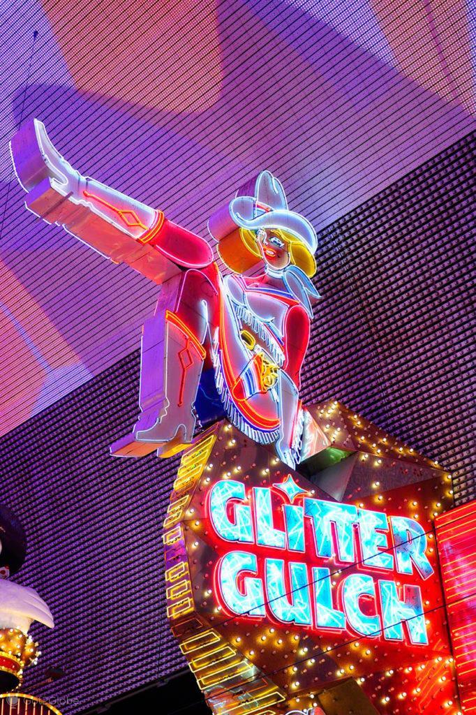 Neon Glitter Gulch, Fremont Street, Las Vegas, Estados Unidos