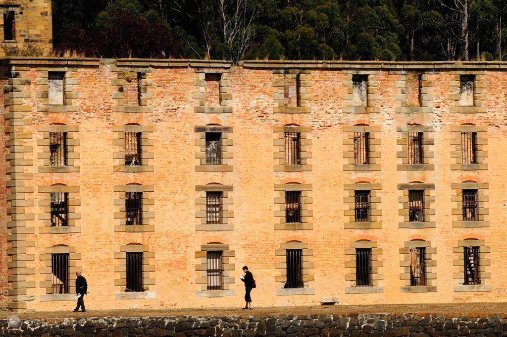 Parede ex-Presidio, Port Arthur, Tasmania, Australia