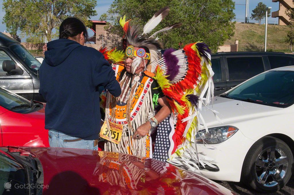Participante, Pow Pow, Albuquerque-Novo México, Estados Unidos