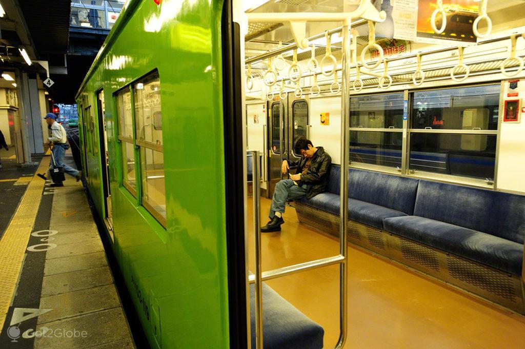Passageiro de Comboio adormecido