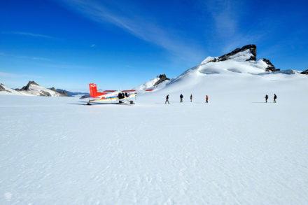 Passageiros, voos panorâmico-Alpes do sul, Nova Zelândia