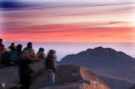Peregrinos no cimo, Monte Sinai, Egipto