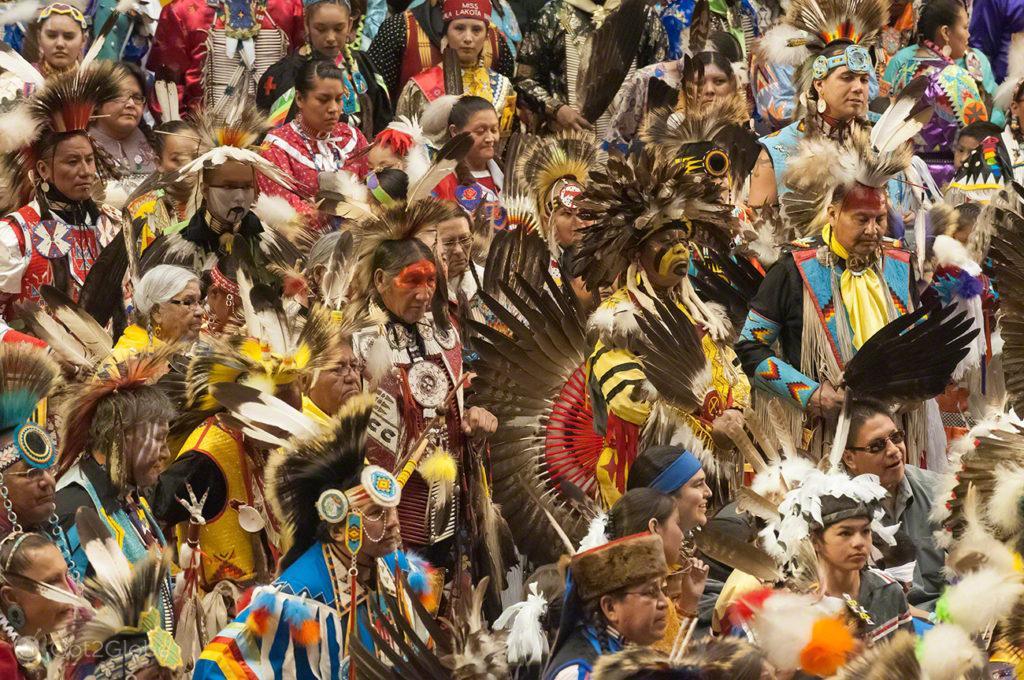 Desfile de nativos-mericanos, Pow Pow-Albuquerque-Novo México, Estados Unidos