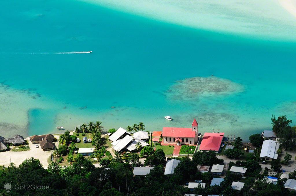 Vaiea, localidade, Maupiti, Ilhas sociedade, Polinesia Francesa
