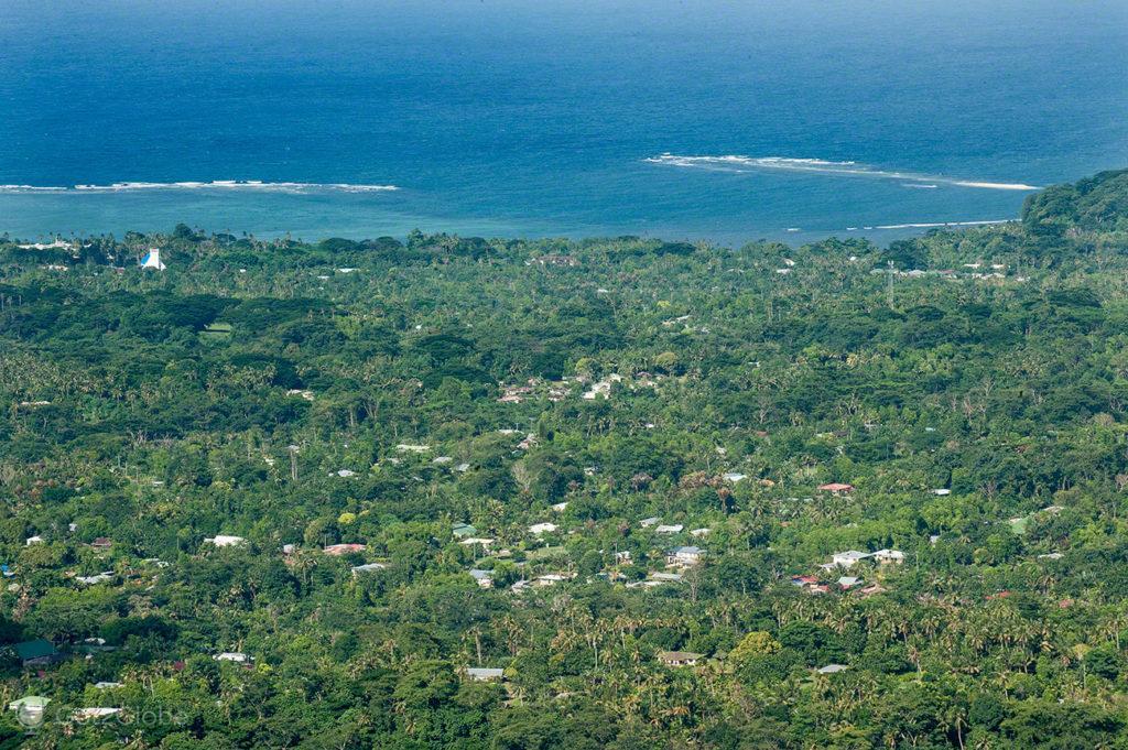 Vista do topo do Monte Vaea, litoral Upolu, vila vailima, Robert Louis Stevenson, Upolu, Samoa
