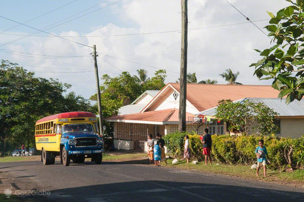 autocarro em Vailima, vila vailima, Robert Louis Stevenson, Upolu, Samoa