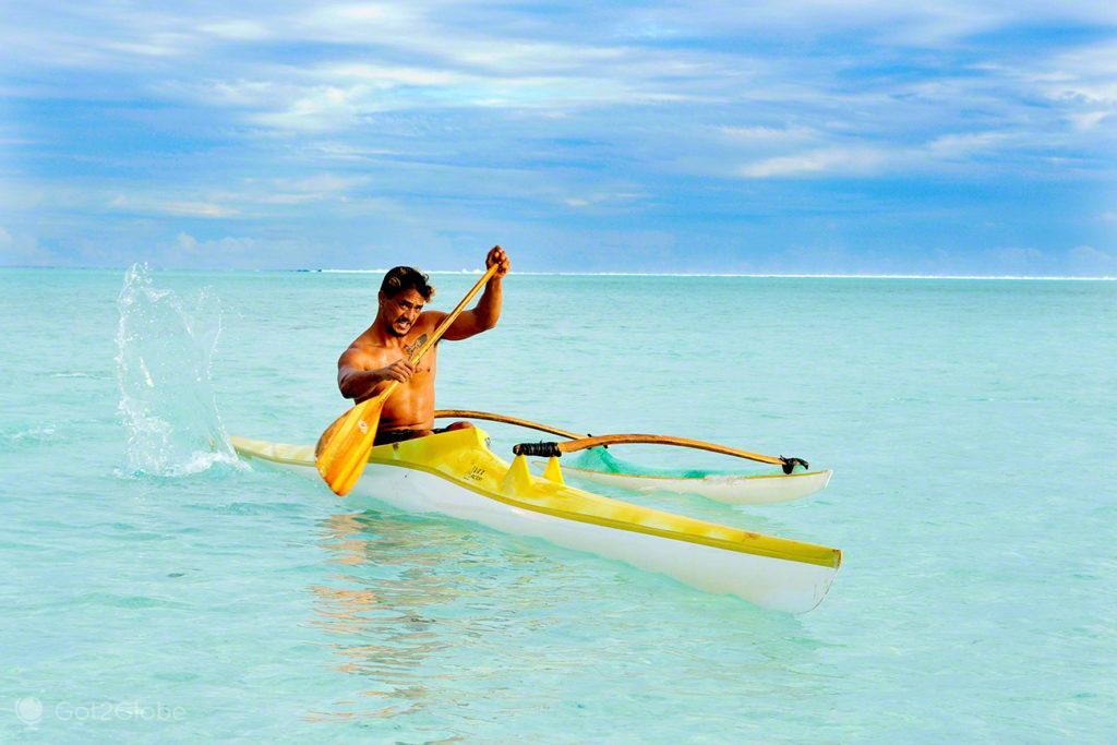 canoa, canoagem, nativo, Maupiti, Ilhas sociedade, Polinesia Francesa