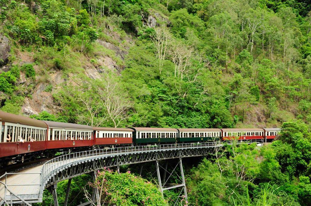 Comboio, composição, carruagens, Kuranda train, Cairns, Queensland, Australia