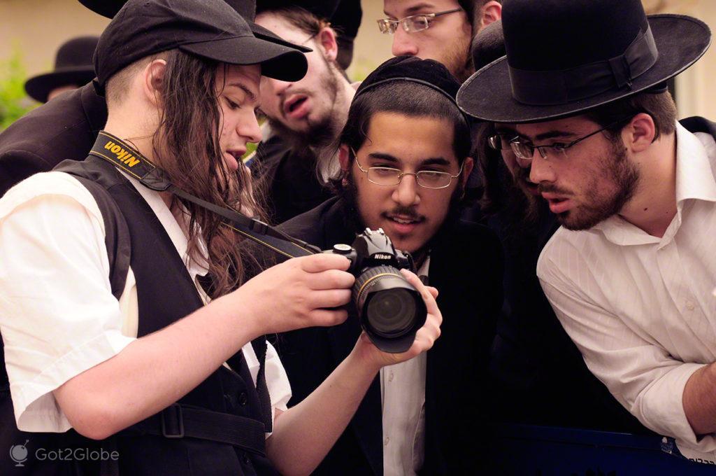 Fotógrafo, manifestação judeus utraortodoxos, jaffa, telavive, Israel