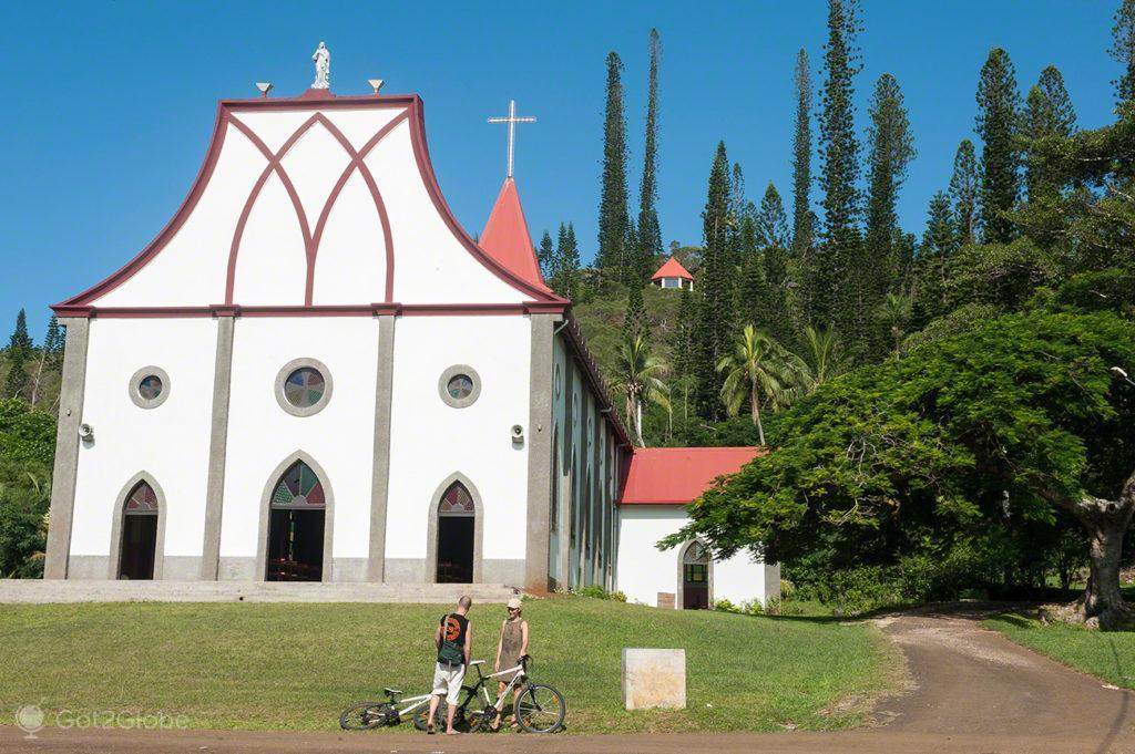Igreja de Vao, Baie d'Oro, île des Pins, Nova Caledonia