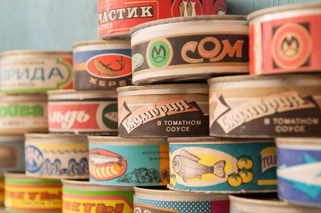 latas conserva, Mar de Aral, Usbequistão