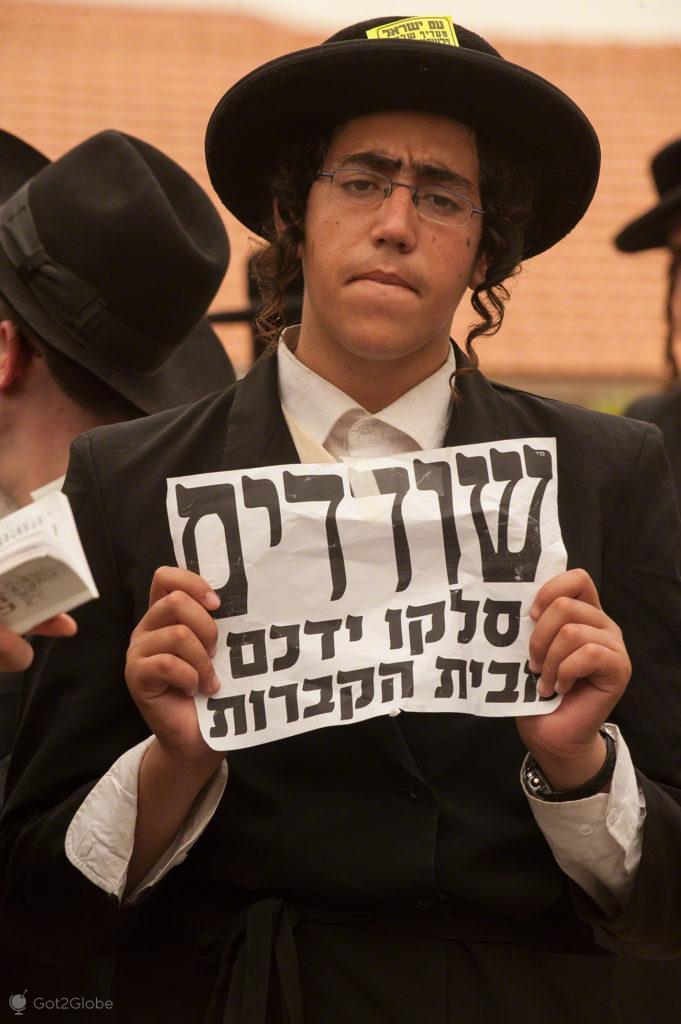 Mensagem, Judeus utraortodoxos, Jaffa, Telavive, Israel
