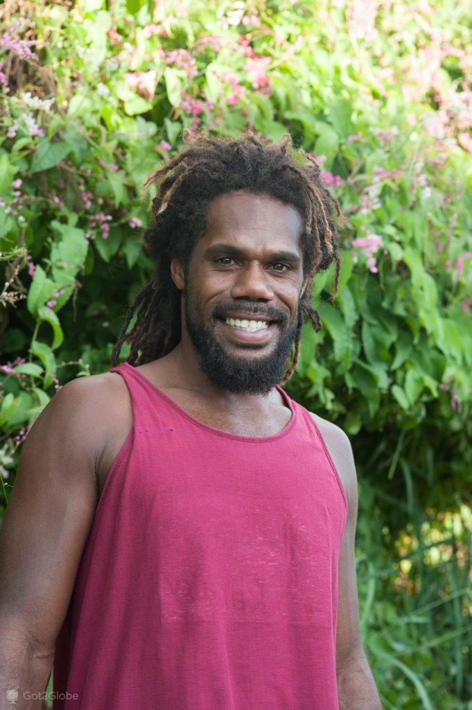 Nativo, habitante Kunie, Ile des Pins, Nova Caledonia