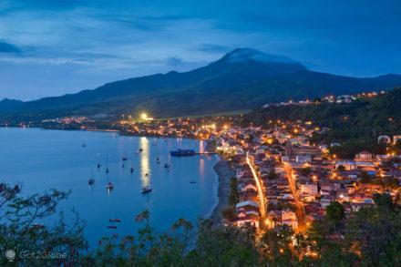 panorâmica, Saint Pierre, Martinica, antilhas francesas