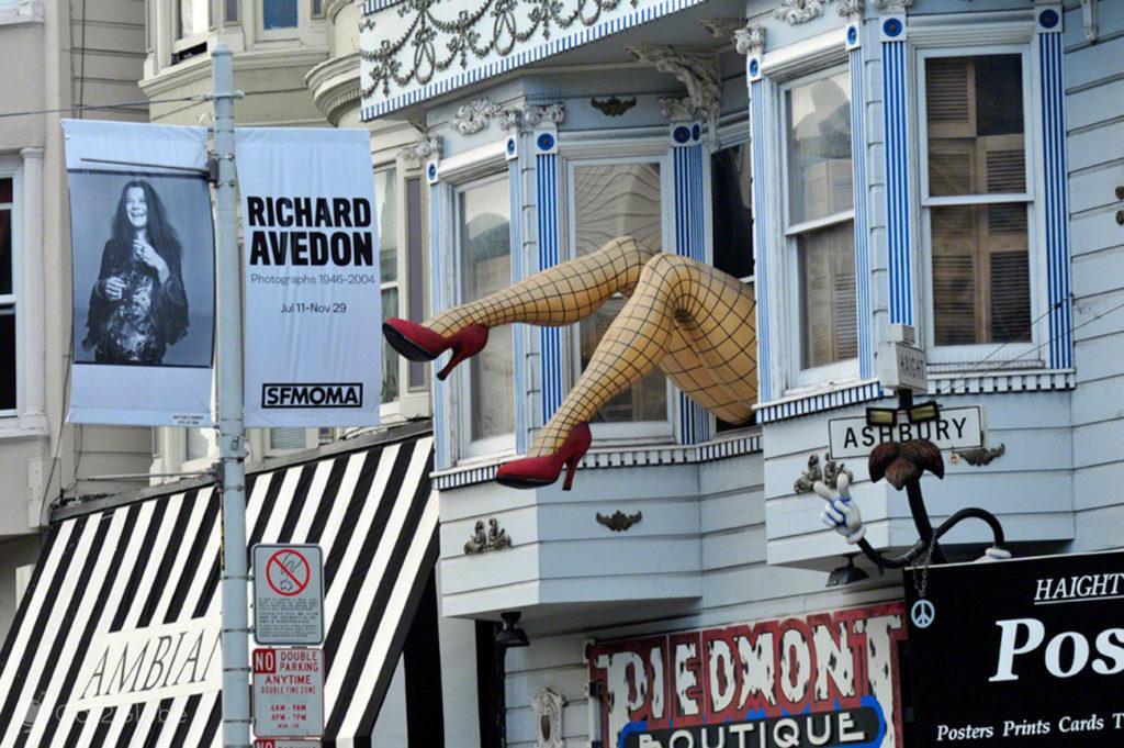 Pernas, chique, Haight Ashbury, Sao Francisco, EUA, Estados Unidos America