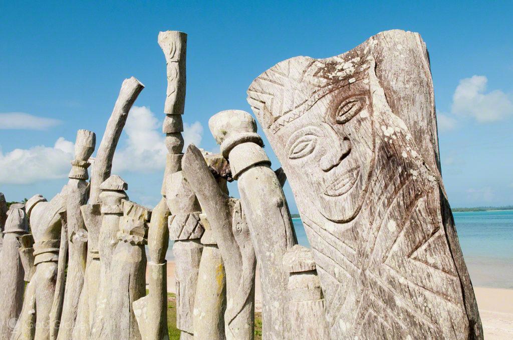 Tiki, etnia Kunie, Ile des Pins, Nova Caledonia