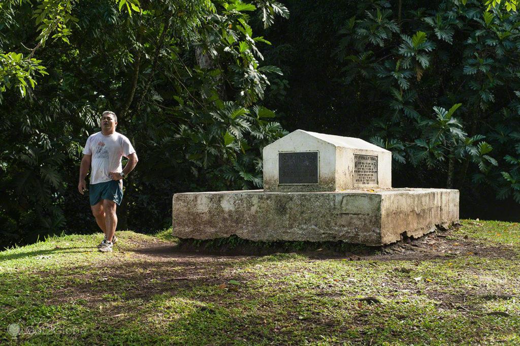 topo do Monte Vaea e do tumulo, vila vailima, Robert Louis Stevenson, Upolu, Samoa