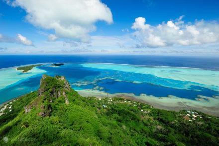 vista monte Teurafaatiu, Maupiti, Ilhas sociedade, Polinesia Francesa