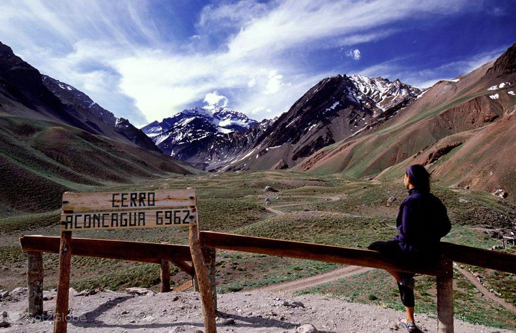 Cerro Aconcagua 6962, Mendoza, de um lado ao outro dos andes, argentina
