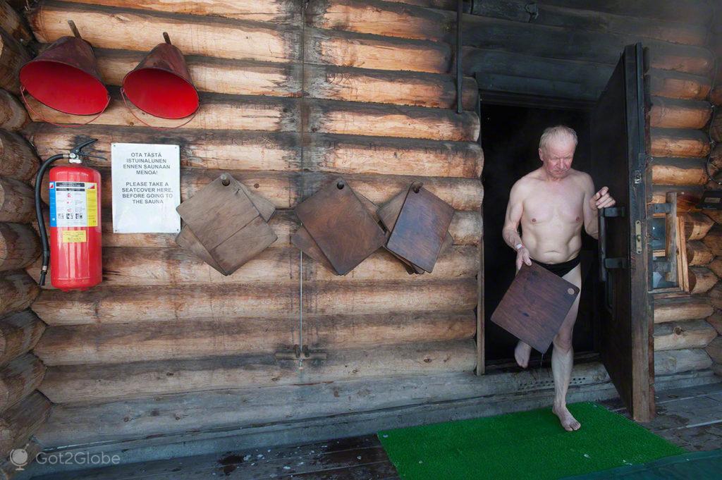 De saida, Sauna Finlandesa