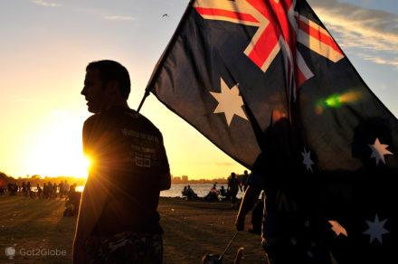 Dia da Austrália, Perth, bandeira australiana