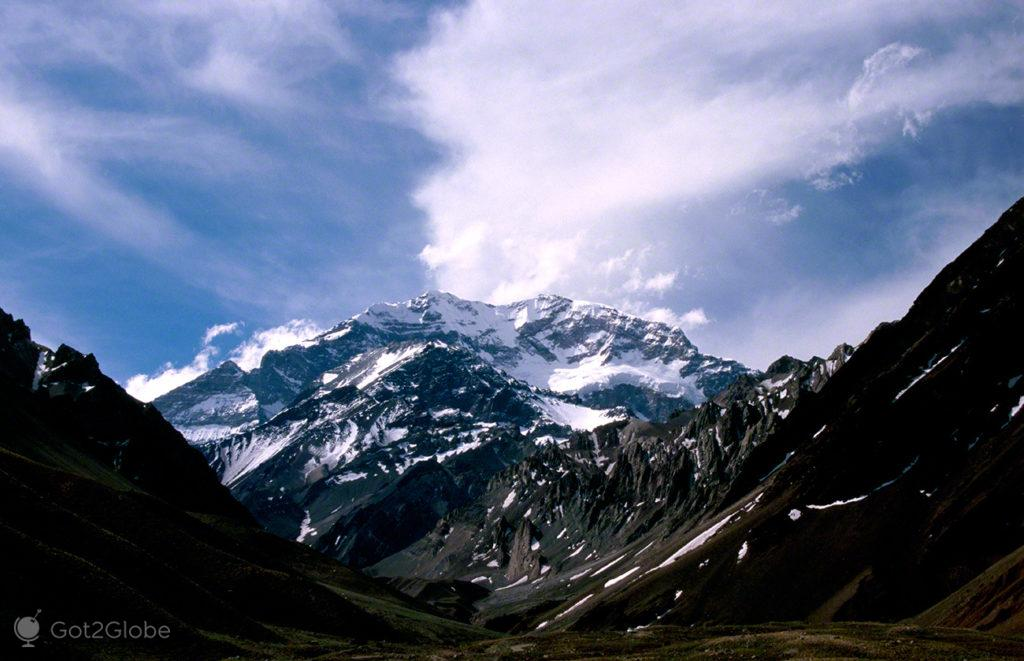 Monte Aconcagua, Mendoza, de um lado ao outro dos andes, argentina