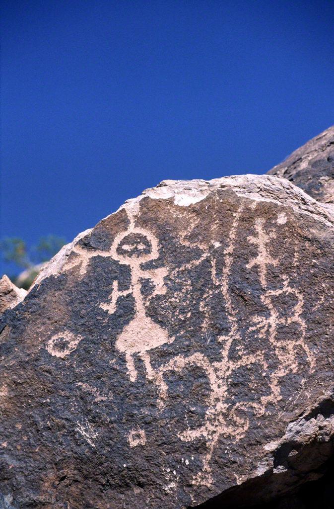 Petroglifos, Mendoza, de um lado ao outro dos andes, argentina