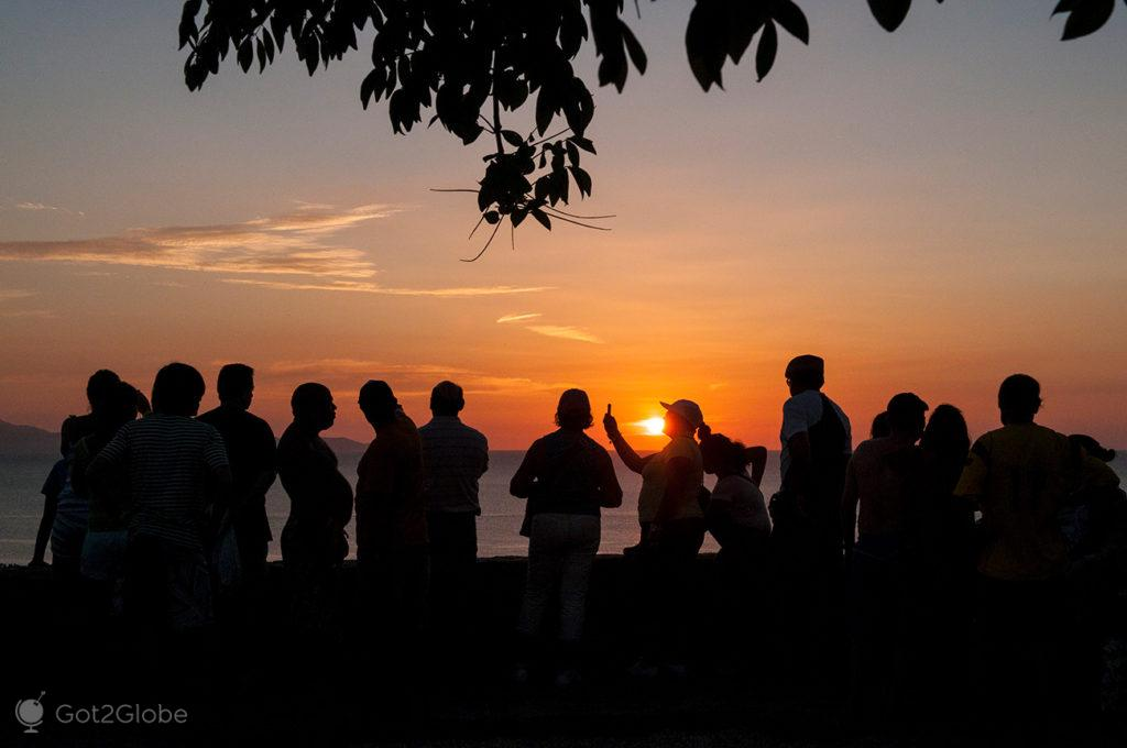 Por do sol, mirador de Juan Griego, Ilha Margarita, Venezuela